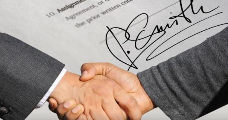 Firmar un contrato de crédito mediante el sistema DocuSign